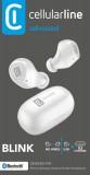 True Wireless sluchátka Cellularline Blink s dobíjecím pouzdrem, bílá