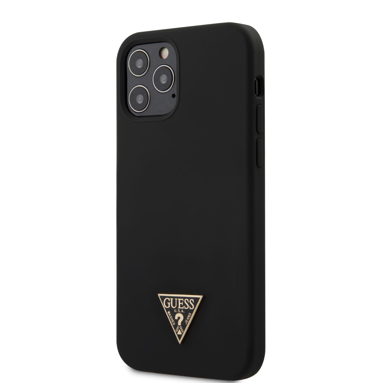 Guess Metal Triangle silikonový kryt GUHCP12MLSTMBK Apple iPhone 12/12 Pro black