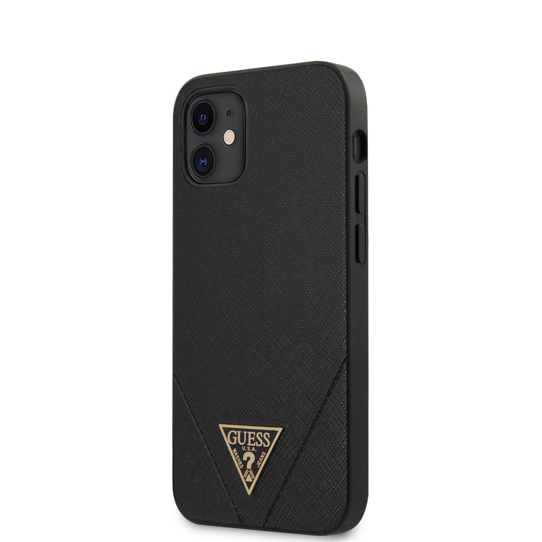 Guess Saffiano V Stitch zadní kryt GUHCP12SVSATMLBK Apple iPhone 12 mini  black