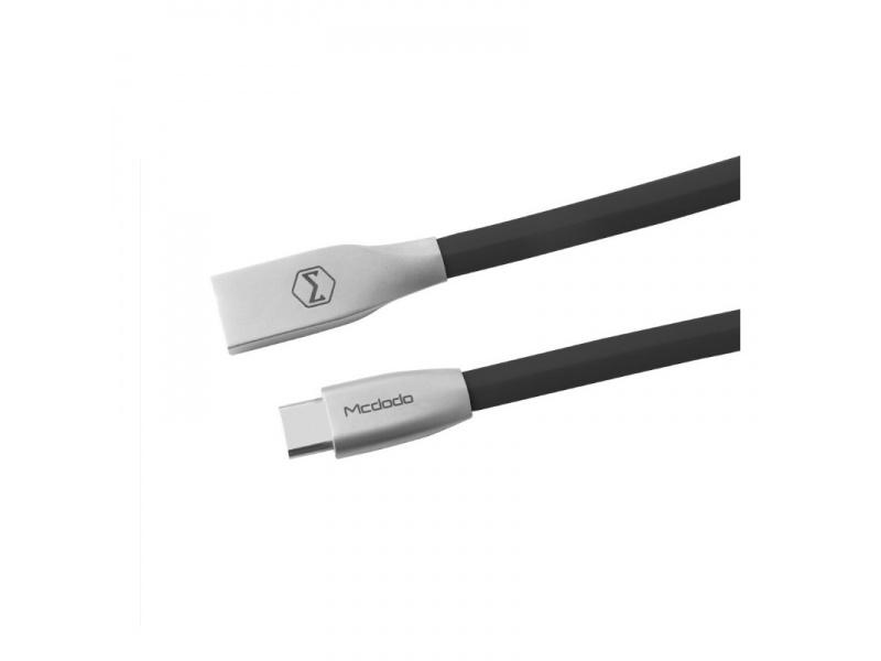 Datový kabel Mcdodo Zinc Alloy Series Type-C Cable, 1,5m, černá