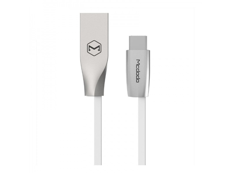 Datový kabel Mcdodo Zinc Alloy Series Type-C Cable, 1,5m, bílá