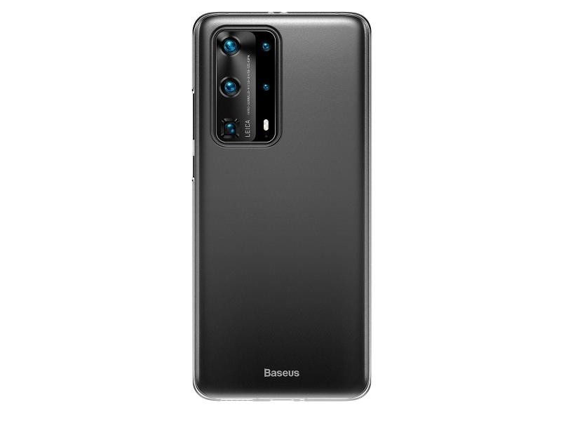 Baseus Wing silikonový kryt, pouzdro, obal na Huawei P40 Pro+ black