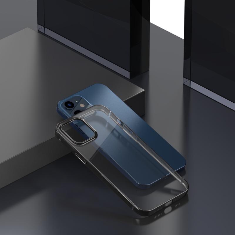 Ochranné pouzdro Baseus Shining Case Anti-fall pro Apple iPhone 12, transparentní černá
