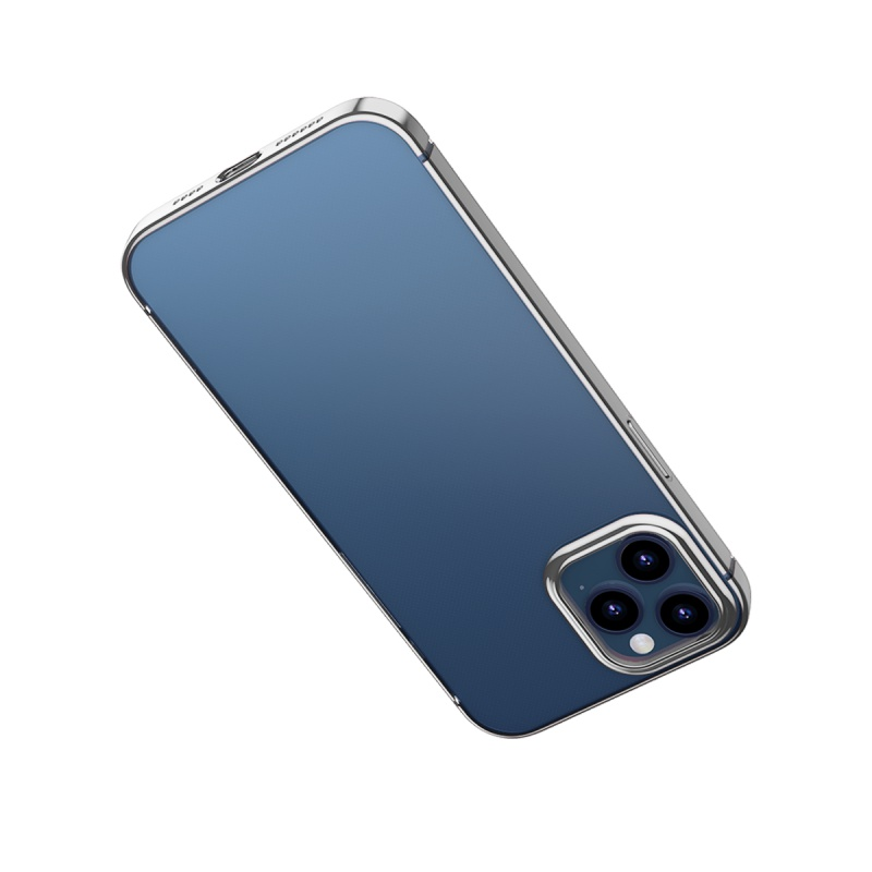 Ochranné pouzdro Baseus Shining Case Anti-fall pro Apple iPhone 12 Pro Max, transparentní černá