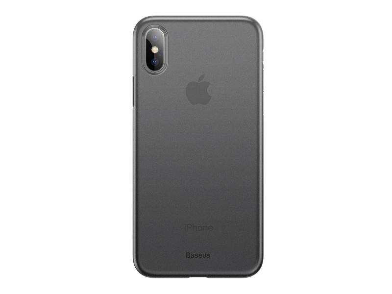 Baseus Wing silikonový kryt, pouzdro, obal Apple iPhone XS Max transparent grey