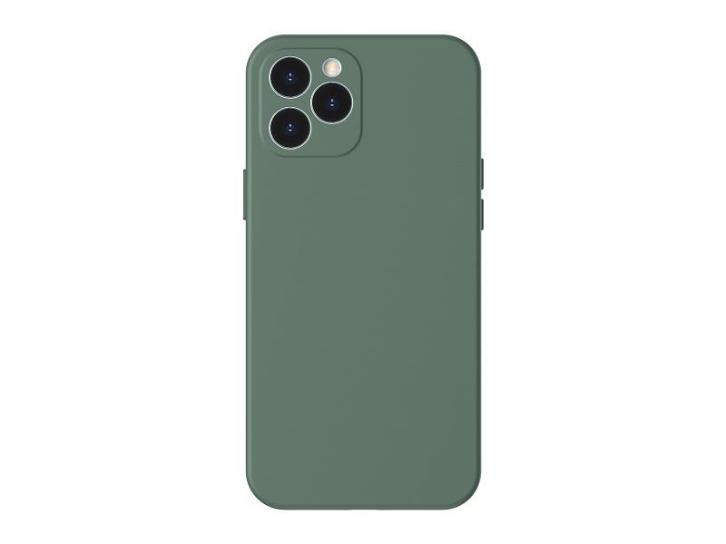 Silikonové pouzdro Baseus Liquid Silica Gel Protective Case pro Apple iPhone 12 Pro Max, zelená