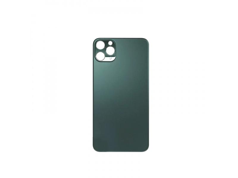 Kryt baterie Back Cover Glass + Big Camera Hole pro Apple iPhone 11 Pro Max, půlnoční zelená