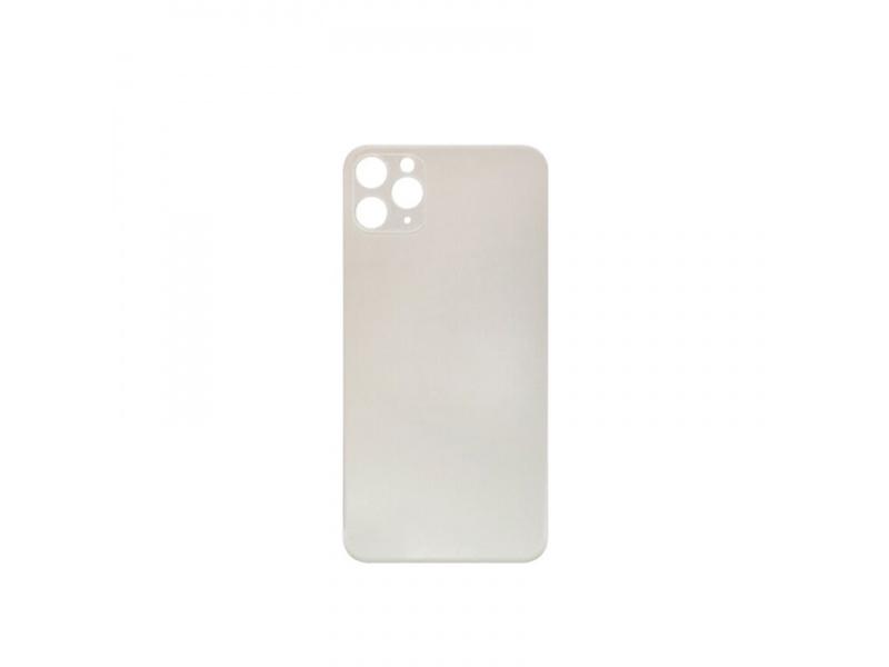 Kryt baterie Back Cover Glass + Big Camera Hole pro Apple iPhone 11 Pro Max, stříbrná