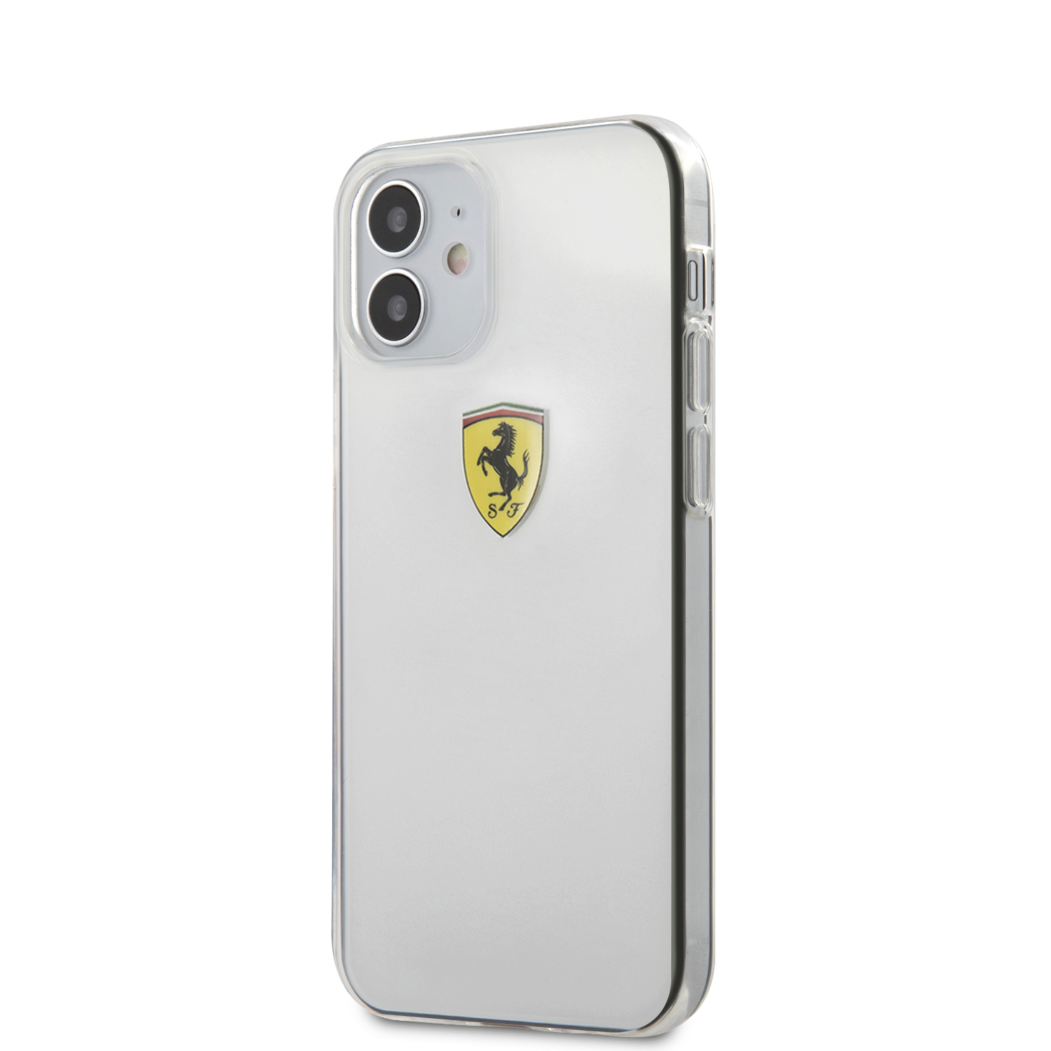 Ferrari On Track Logo Print kryt FESTRHCP12STR Apple iPhone 12 mini transparent