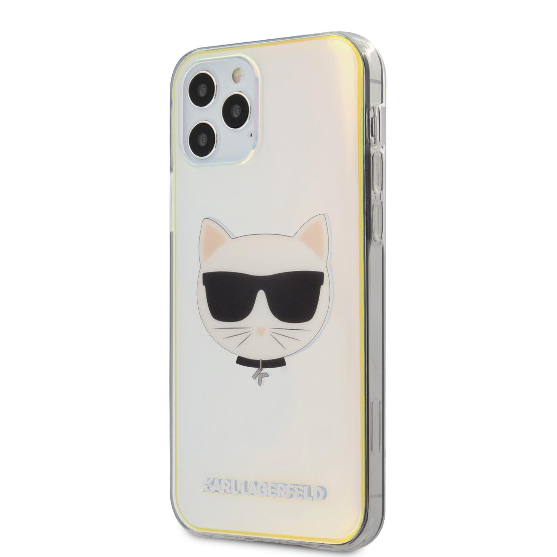 Karl Lagerfeld Choupette Head kryt KLHCP12MCIR Apple iPhone 12/12 Pro iridescent
