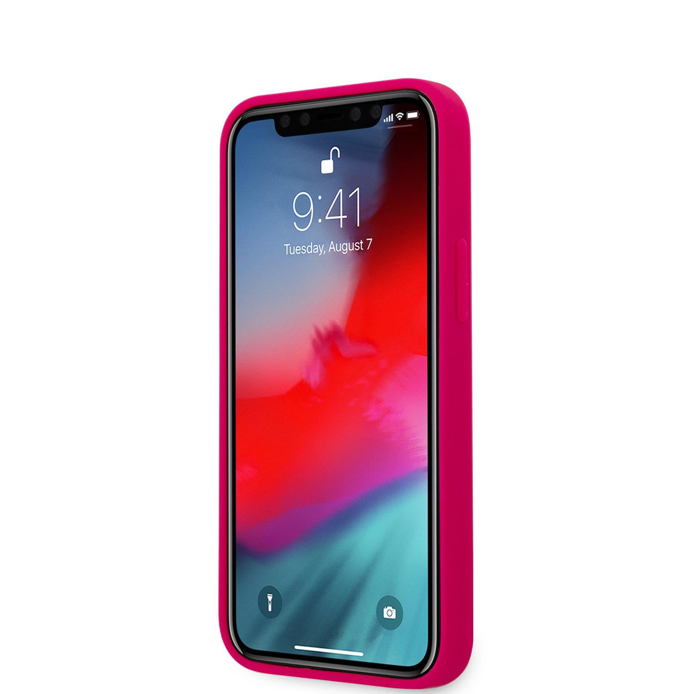 Karl Lagerfeld Iconic Outline silikonový kryt KLHCP12SSILFLPI Apple iPhone 12 mini pink