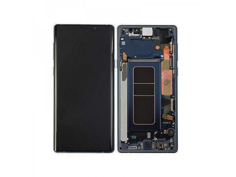 LCD + dotyk + rámček pre Samsung Galaxy Note 9, blue (Service Pack)
