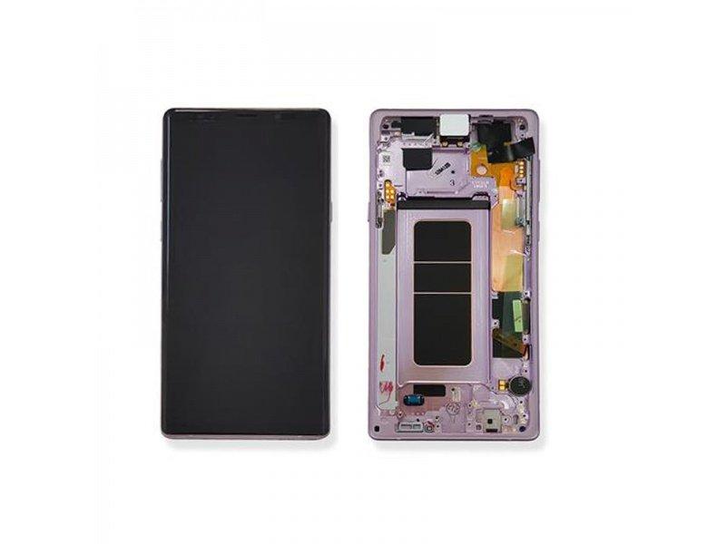 LCD + dotyk + rámček pre Samsung Galaxy Note 9, lavener purple (Service Pack)