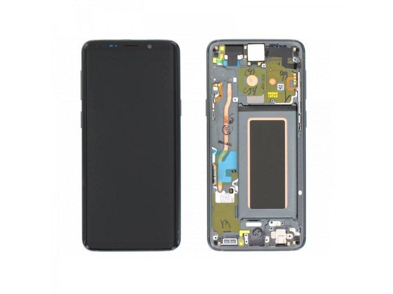 LCD + dotyk + rámček pre Samsung Galaxy S9, grey (Service Pack)