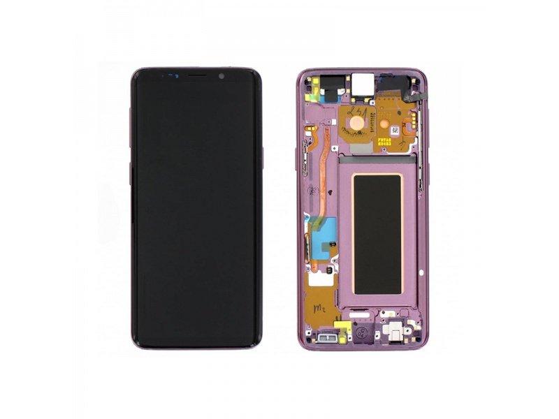 LCD + dotyk + rámček pre Samsung Galaxy S9, purple (Service Pack)