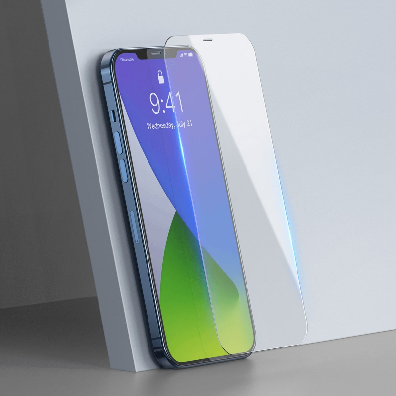 Tvrzené sklo Baseus Full pro Apple iPhone 12/12 Pro, transparentní