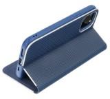 Forcell Luna Carbon flipové pouzdro, obal, kryt Apple iPhone 12/12 Pro navy