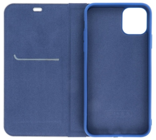 Forcell Luna Carbon flipové pouzdro, obal, kryt Apple iPhone 12/12 Pro navy pro Apple iPhone 12, 12 Pro, modrá