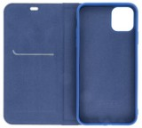Forcell Luna Carbon flipové pouzdro, obal, kryt Apple iPhone 12 mini navy
