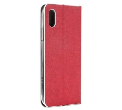 Forcell Luna Silver flipové pouzdro, obal, kryt Apple iPhone 12 Pro Max red