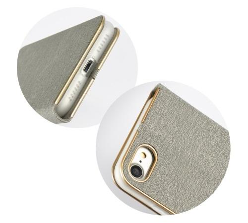 Forcell Luna flipové pouzdro, obal, kryt pro Apple iPhone 12 mini silver