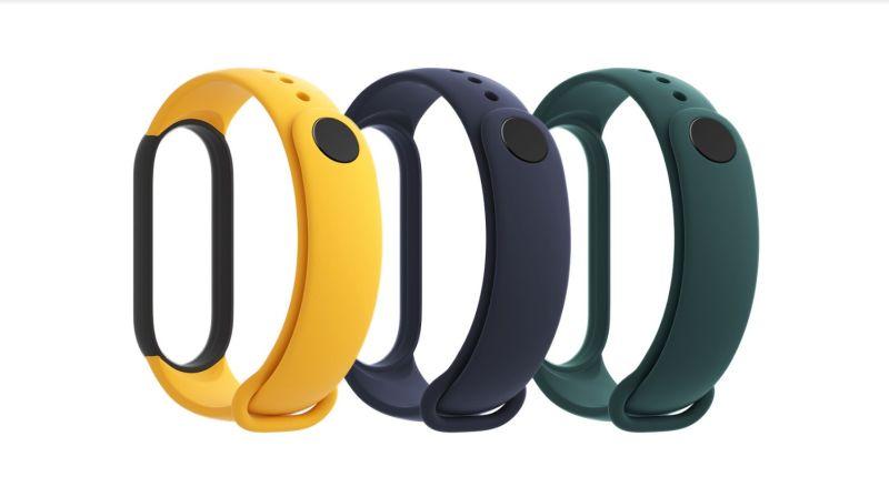 Remienky k náramku Xiaomi Mi Band 5 (Blue, Yellow, Green)
