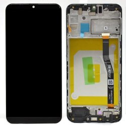 LCD + dotyk + rámeček pro Samsung Galaxy M21, black ( Service Pack )