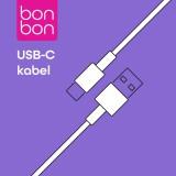 Datový a nabíjecí kabel Bonbon s konektory USB/USB-C, 1m black