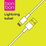 Datový a nabíjecí kabel BonBon s konektory USB/Lightning, 1m white