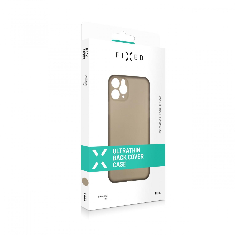 FIXED Peel Ultratenký kryt, pouzdro, obal Apple iPhone 12 mini kouřový