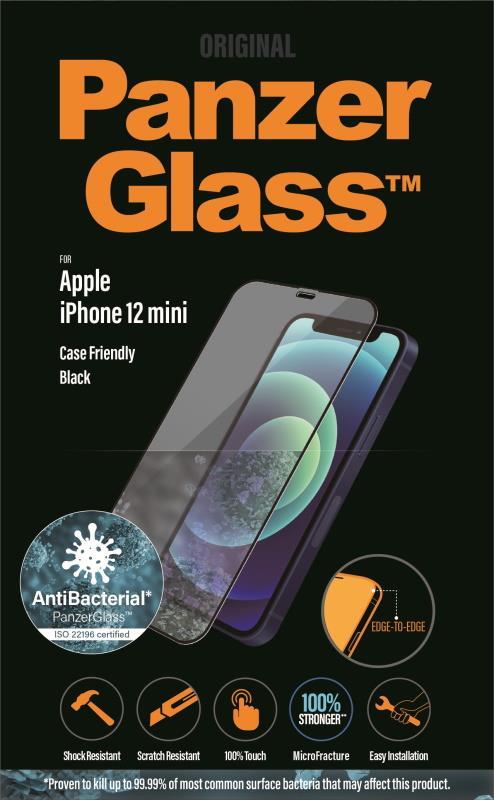 Ochranné sklo displeje PanzerGlass Edge to Edge pro Apple iPhone 12 mini, černá