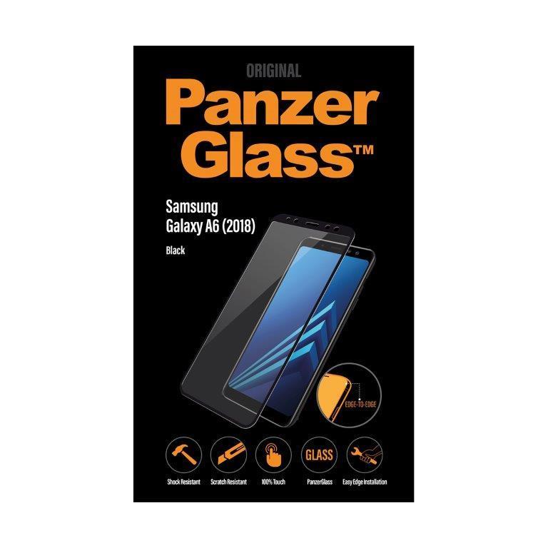 Ochranné sklo displeje PanzerGlass Edge to Edge pro Samsung Galaxy A6 2018, černá