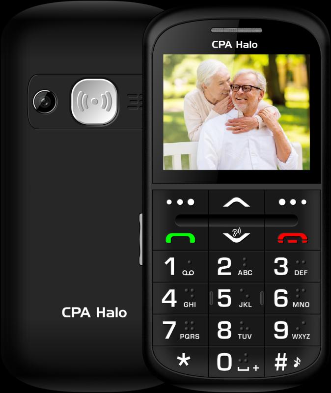 CPA Halo 11 Pro Senior s nabíjecím stojánkem, černá