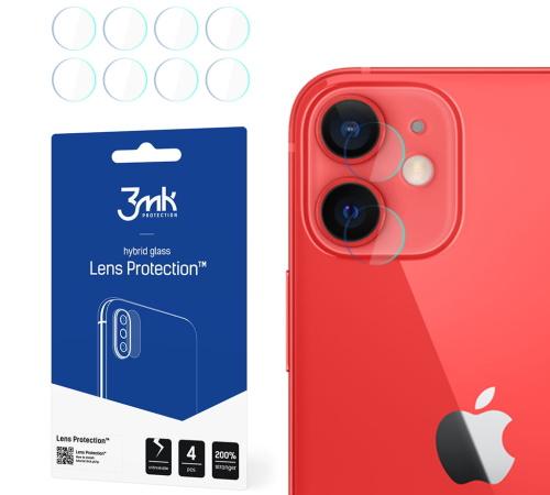 Hybridní sklo 3mk Lens ochrana kamery pro Apple iPhone 12 mini (4ks)