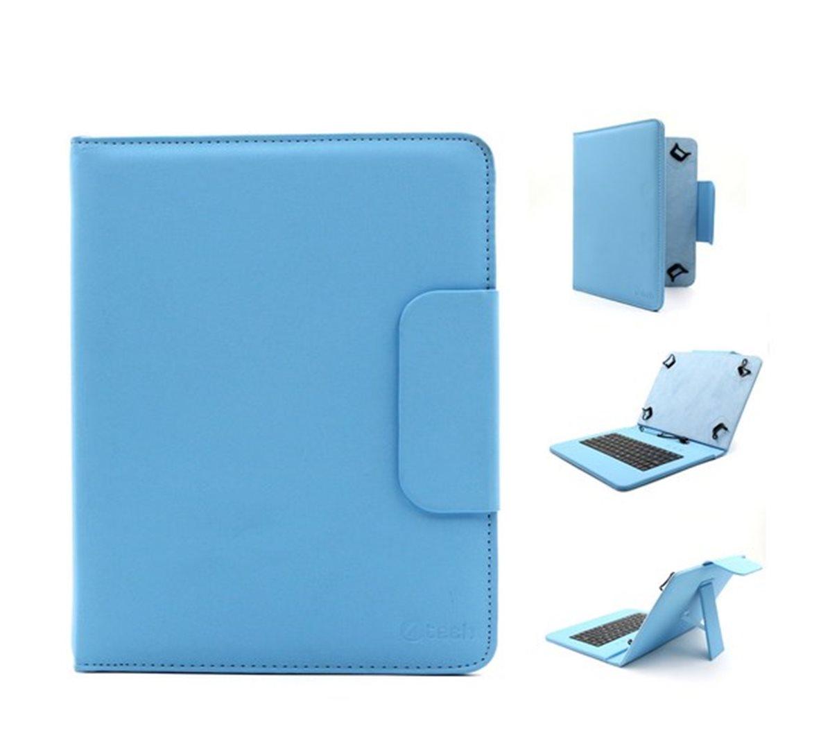 """C-TECH univerzální pouzdro, obal, kryt s klávesnicí pro 8"""" tablety blue"""