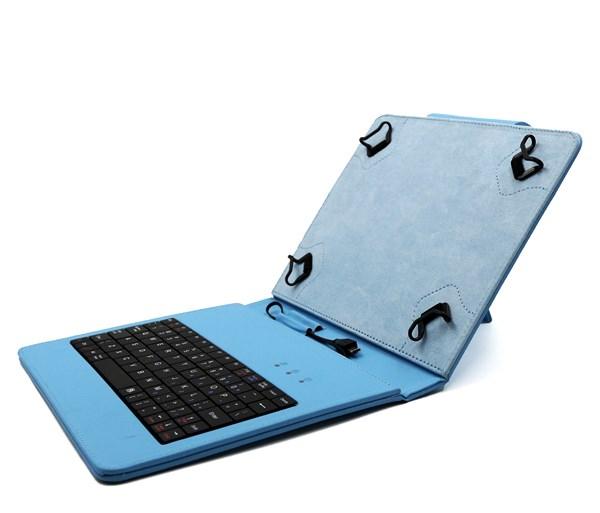 """univerzální pouzdro, obal, kryt s klávesnicí pro 8"""" tablety blue"""