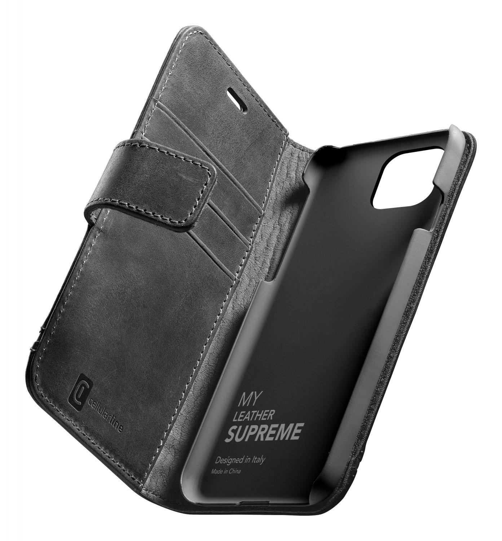 Cellularline Supreme flipové pouzdro, obal, kryt Apple iPhone 12/12 Pro black