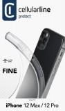 Cellularline Fine extratenký zadní kryt, pouzdro, obal Apple iPhone 12/12 Pro transparent