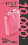 Kompaktní powerbanka E-Tonic 10 000 mAh růžová