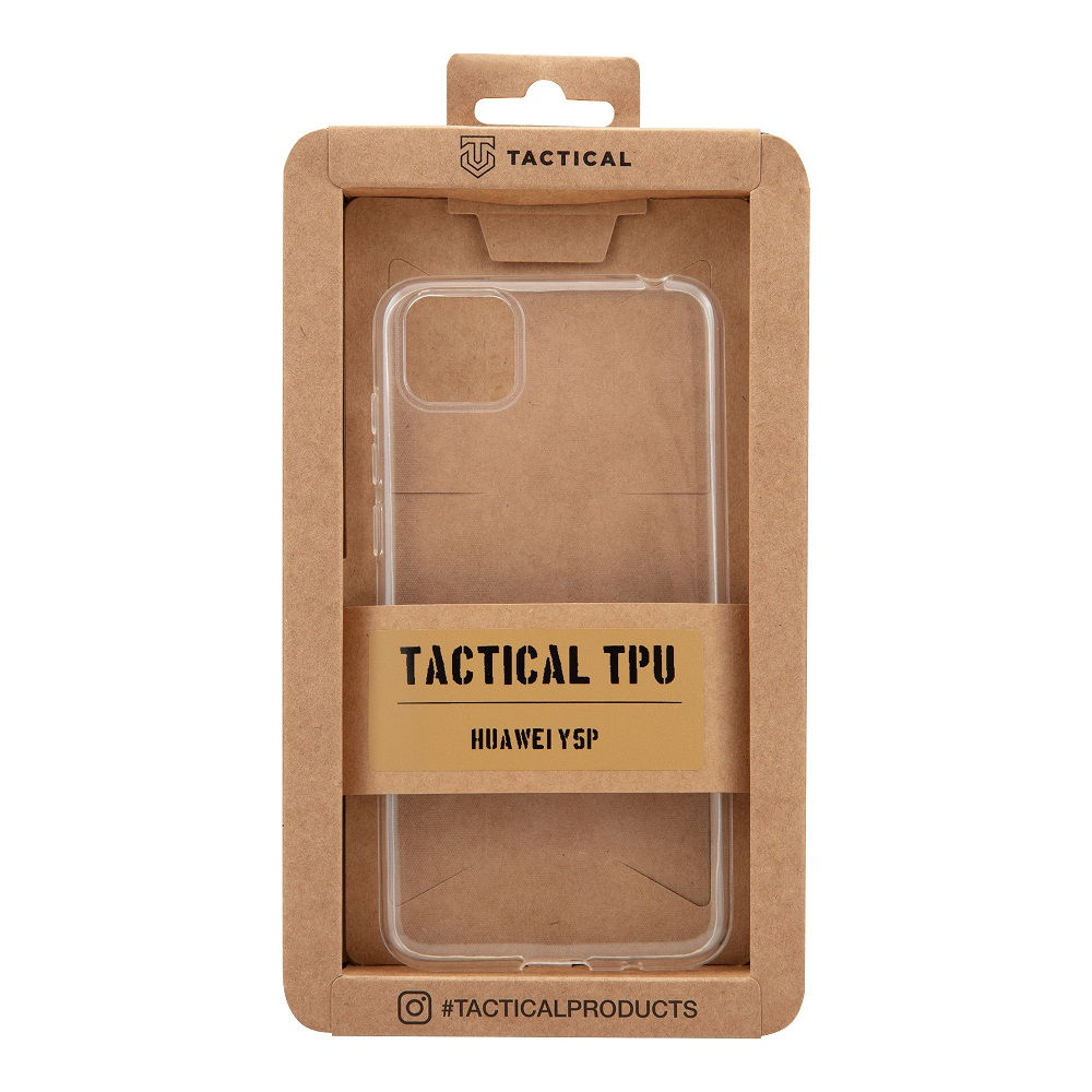 Tactical silikonové pouzdro, obal, kryt pro Huawei Y5p transparent