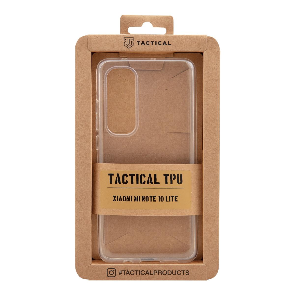 Tactical silikonové pouzdro, obal, kryt Xiaomi Mi Note 10 Lite transparent