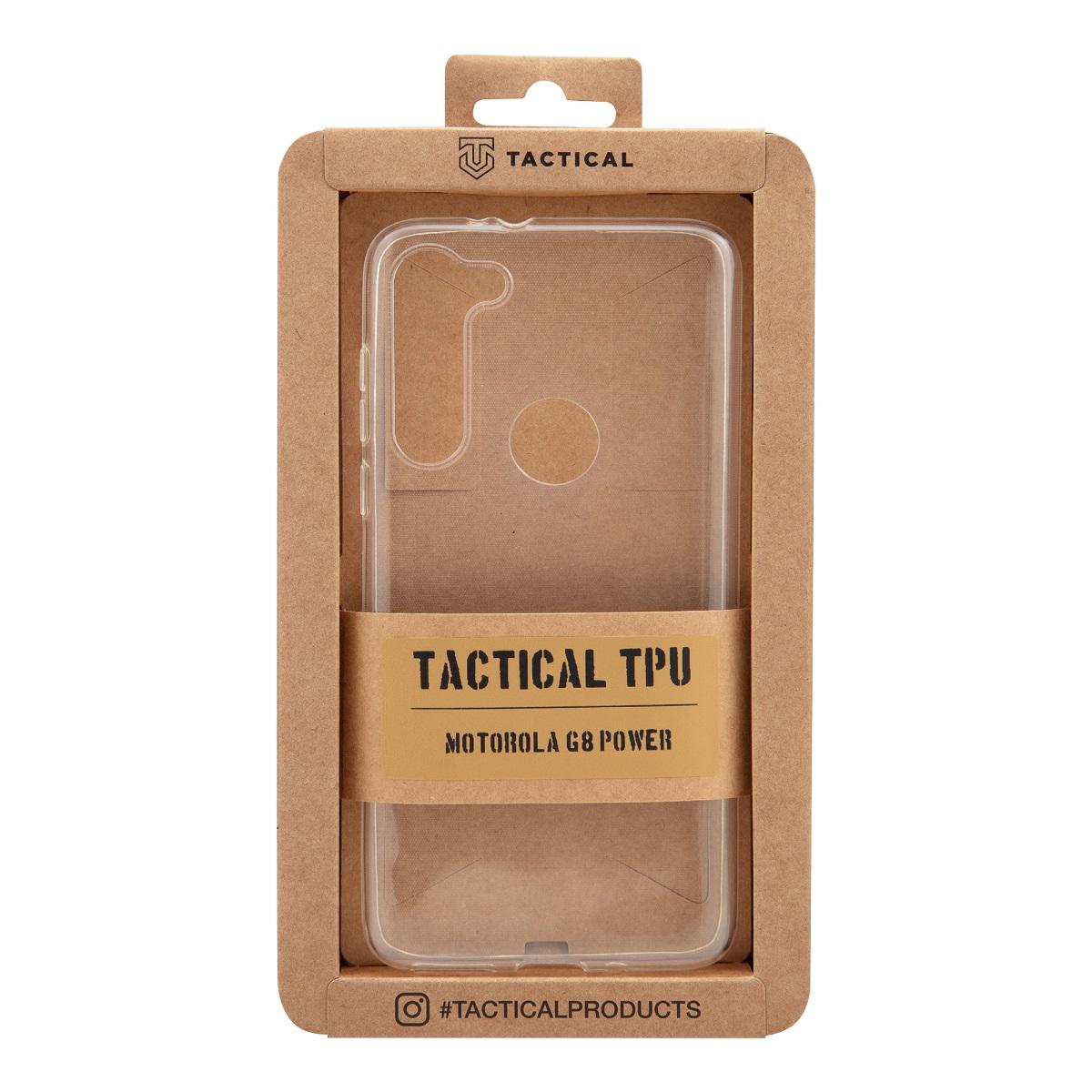 Tactical silikonové pouzdro, obal, kryt Motorola Moto G8 Power transparent
