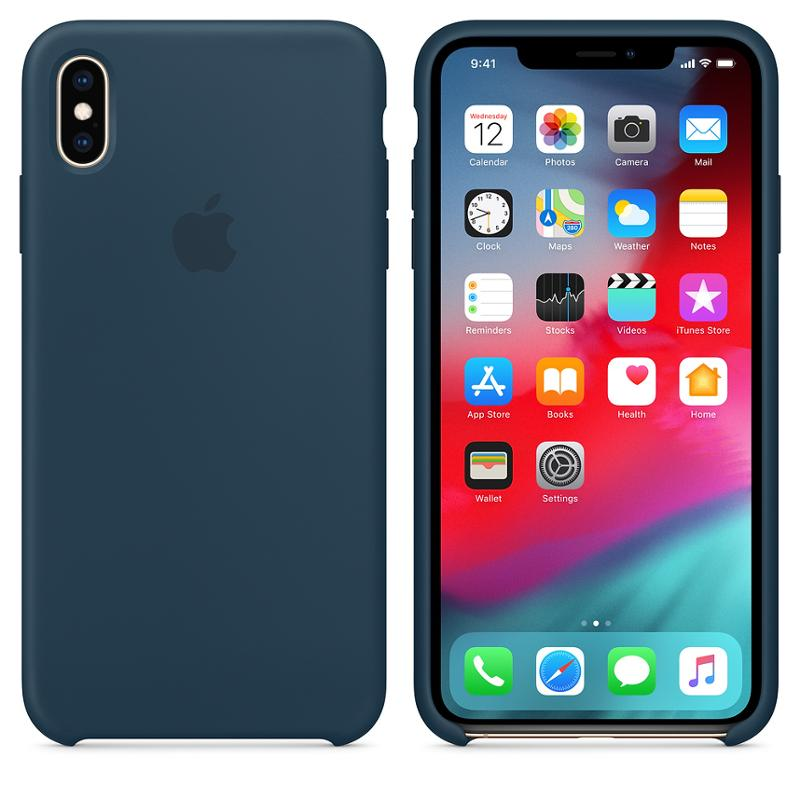 Apple silikonový kryt, pouzdro, obal MUJQ2ZM/A Apple iPhone XS Max pacific green