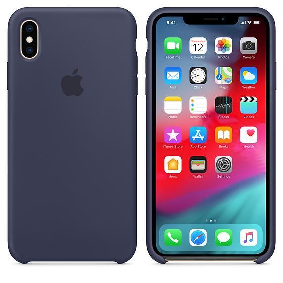 Originální silikonový kryt, pouzdro, obal MRWG2ZM/A Apple iPhone XS Max midnight blue