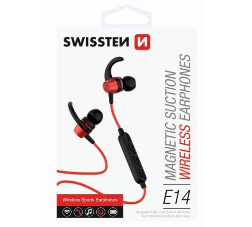 Sluchátka Bluetooth SWISSTEN ACTIVE red
