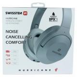 Sluchátka Bluetooth stereo SWISSTEN HURRICANE grey