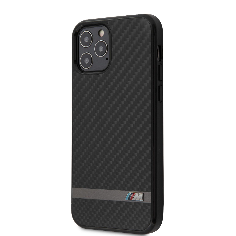 BMW Carbon & Alu zadní kryt BMHCP12MASCFBK Apple iPhone 12/12 Pro black