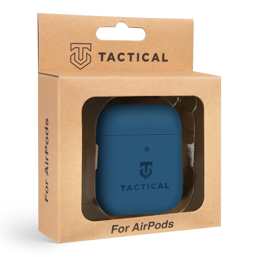 Tactical Velvet Smoothie silikonové pouzdro, obal, kryt Apple AirPods navy seal