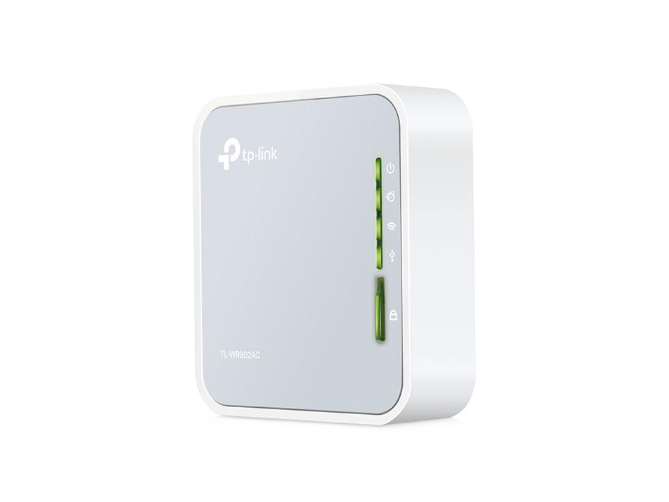TP-link TL-WR902AC AC750 Mini Router/extender/klient/AP, 1xRJ45, 1xUSB 2.0