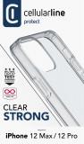 Zadní kryt, pouzdro, obal Cellularline Clear Duo Apple iPhone 12/12 Pro transparent